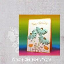Daisy flower Metal steel frames Cutting Dies DIY Scrap booking Photo Album Embossing paper Cards 8*9cm