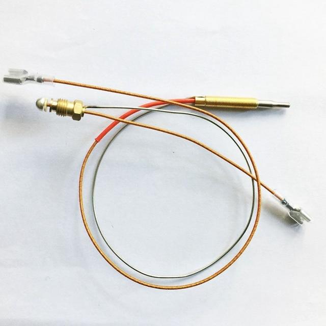 Gran oferta calentador de Patio exterior M6x0.75 rosca de cabeza con tuercas de conexión de extremo M8X1 termopar 410Mm