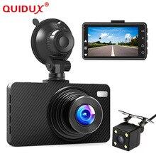 QUIDUX Dual lens macchina fotografica Dell'automobile DVR 3 Pollici Schermo Full HD 1080 P Dvr 170 Gradi Grandangolare WDR Dash cam Video Recorder Camcorder