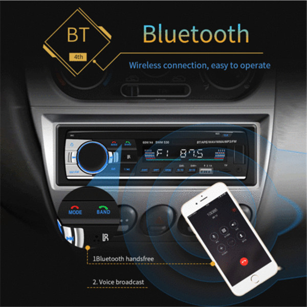 Bluetooth Auto Stereo Audio In-Dash FM Aux Eingang Empfänger SD <font><b>USB</b></font> <font><b>MP3</b></font> Radio <font><b>Player</b></font> image