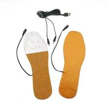 Новые стельки с электропитанием от USB, теплые зимние стельки для обуви, размеры 36-44, стельки для зимних видов спорта