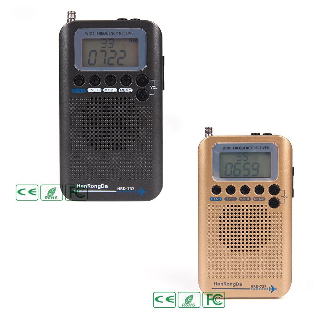 HRD-737 numérique LCD affichage pleine bande Radio Portable FM/AM/SW/CB/Air/VHF bande mondiale récepteur stéréo Radio avec réveil