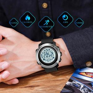 Image 5 - SKMEI Sport Watch Men Waterproof Watch Compass Digital Wristwatches Heart Rate Calories Clock reloj hombre