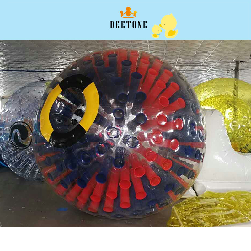 DEETONE 2.6m Inflatable Football Bubble Ball 0.8mm PVC Bumper Ball Body Zorbing Bubble Soccer Human Bouncer Bubbleball Zorb Ball