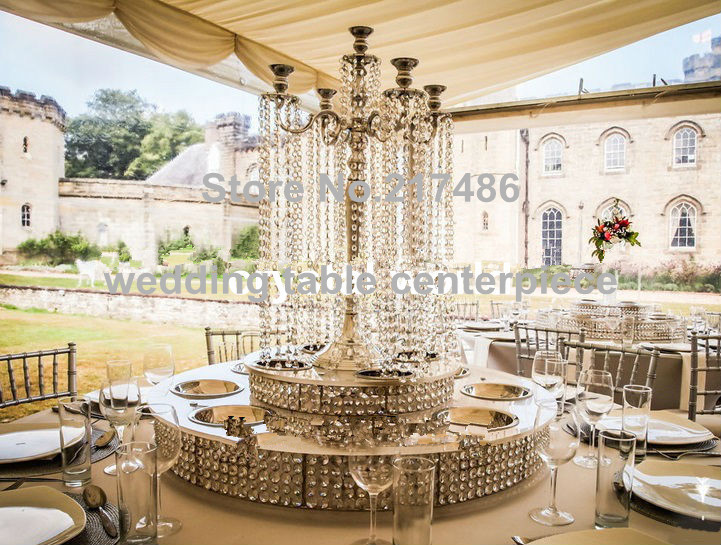 Online Shop 4 crystal table top chandelier centerpieces for ...