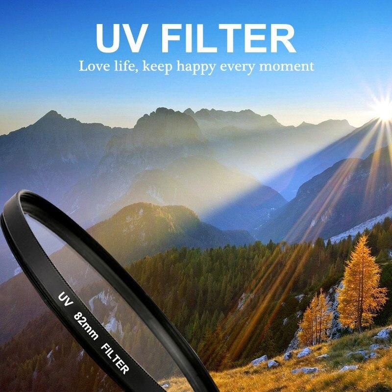 MASUNN UV Ultra Violet Filtre Lentille De Protection 52 Mm 55 62 67 72 77 Mm 82 pour Appareil Photo Canon Nikon-52Mm