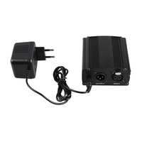 Electronic Music Accessories Audio Condenser Microphones 48V Phantom Power Supply Set 1 Channel with EU Adapter F