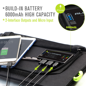 Image 3 - ALLPOWERS Solar Power Bank 5V 21W Quick Charging Solar Charger for iPhone 6 6s 7 7plus 8 X Samsung Xiaomi Huaming Sony HTC LG