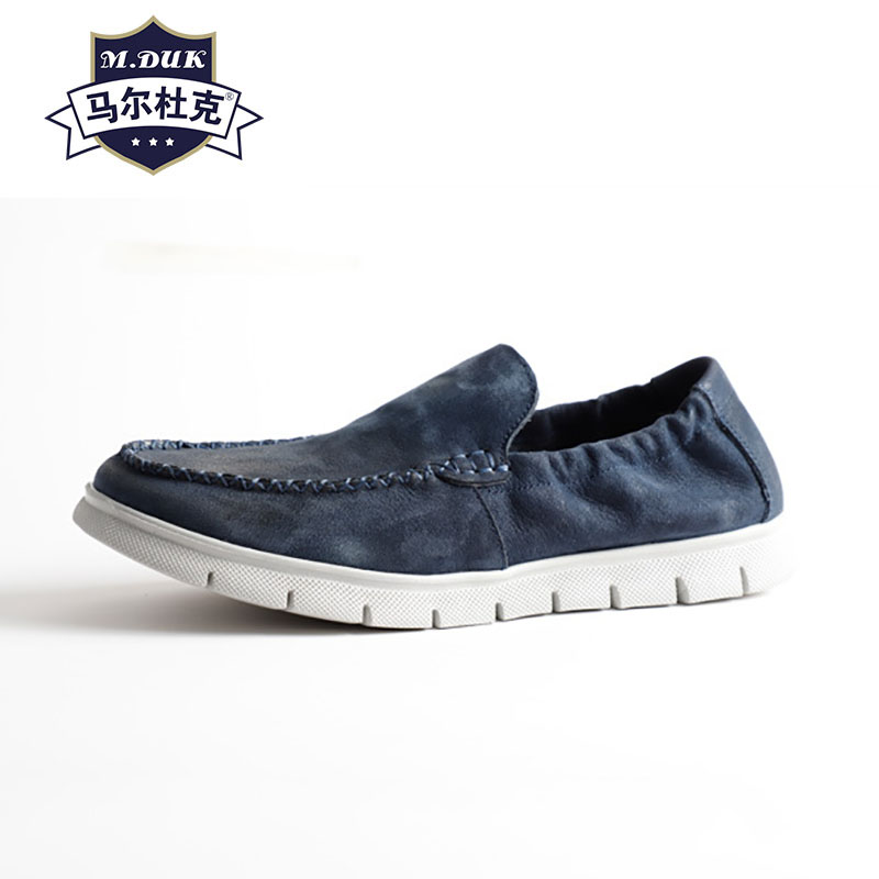 Spring Summer Leisure loafer shoes mens Driving soft Shoes Lazy all-match cowhide spring and autumn summer casual