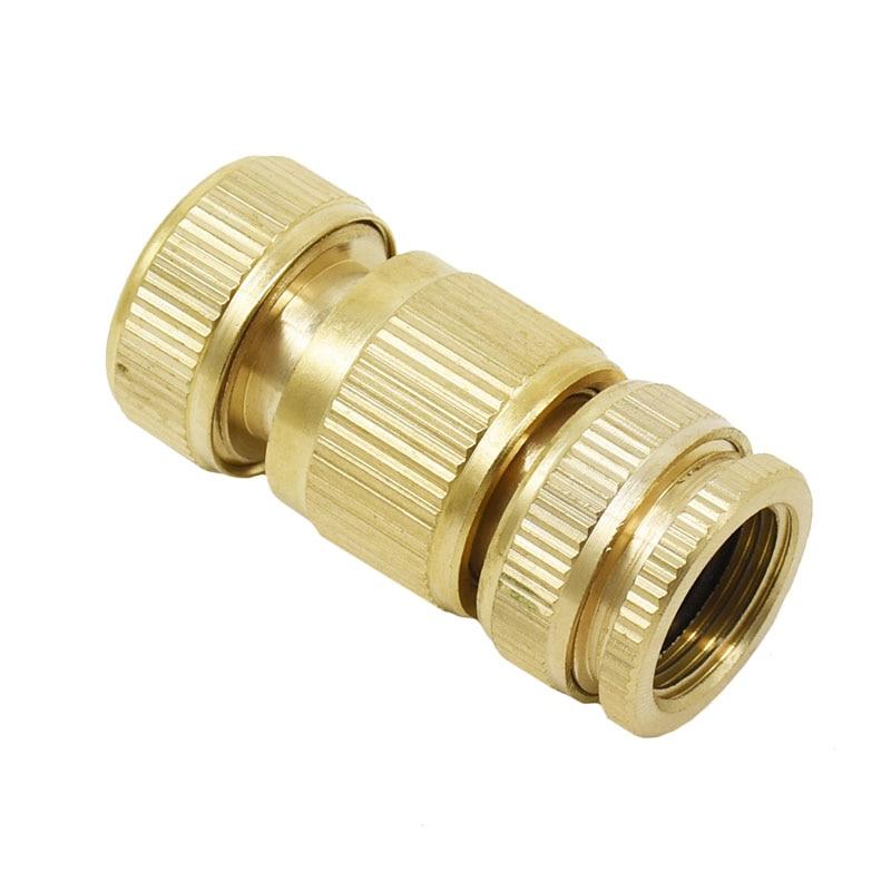 HTB1gkM3mcyYBuNkSnfoq6AWgVXaE Garden brass hose quick connector 1/2 copper connector garden hose female Thread 1/2 3/4 water gun fitting 1set