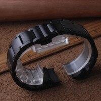 새로운 arrivalstainless 스틸 스트랩 삼성 갤럭시 시계 42mm 시계 밴드 20mm 곡선 끝 블랙 팔찌 금속 매트 시계 밴드