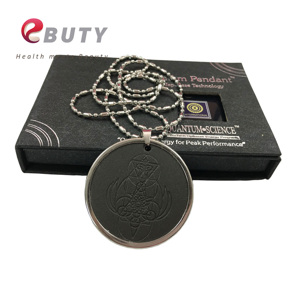 EBUTY Quantum Energy Pendant with Stainless Steel Chain Retail Package Box Fashion Pendants Angel Spiritual Design