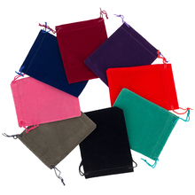 Wholesale 8*10cm Drawstring Black/Blue/Red/Wine Red Velvet Bags Pouches Jewelry Bags Christmas Valentines Gifts Bags 500pcs/lot(China (Mainland))