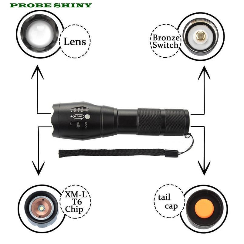 NEW!!! XM-L T6 LED X800 Tactical Flashlight Military Key chain EU PLUG Free Shipping #NO25