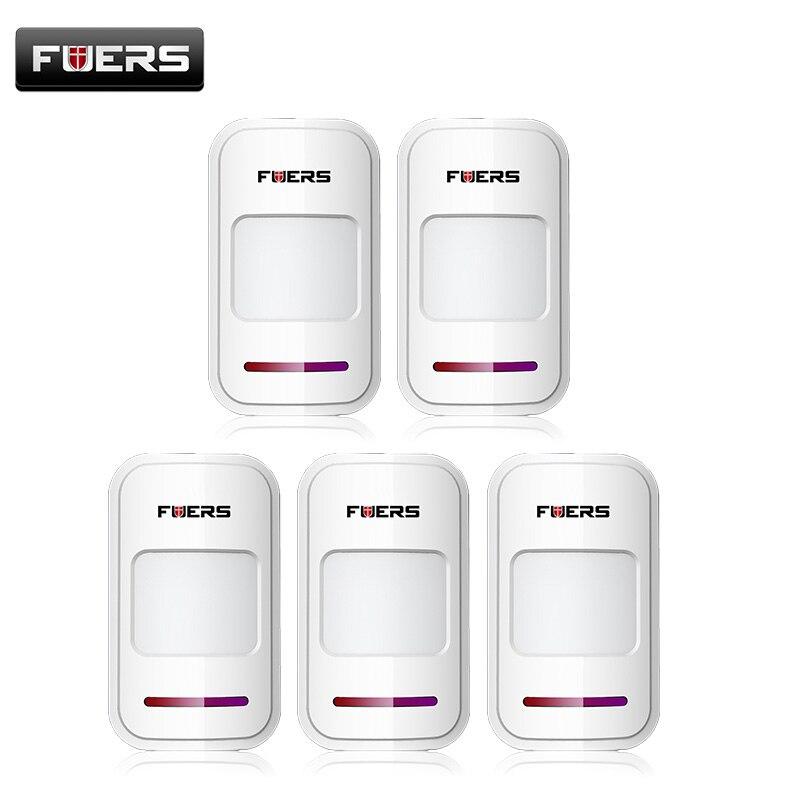 5 pcs/lot Sans Fil PIR motion sensor détecteur f tactile clavier panneau GSM PSTN accueil maison sécurité Antivol système d'alarme vocale
