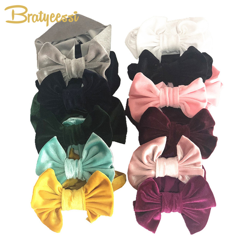 Detail Feedback Questions about Velvet Baby Headband for Girls Big Bow  Elastic Baby Girl Headbands Hair Accessories Baby Photograph Props Kids  Head Band 1PC ... 1bdcfc4bc89