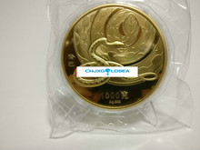 2013 Chinese snake year commemorative plated gold coin 1kg with COA and box  gift present