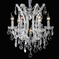 LED Crystal Chandelier Dining Room Light Lustres De Cristal Maria Theresa Chandelier Modern Home Lighting With