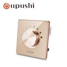 100 Вт в стене стерео динамик регулятор громкости с сочетанием импеданса, настенный поворотный регулятор громкости на стене переключатель динамиков