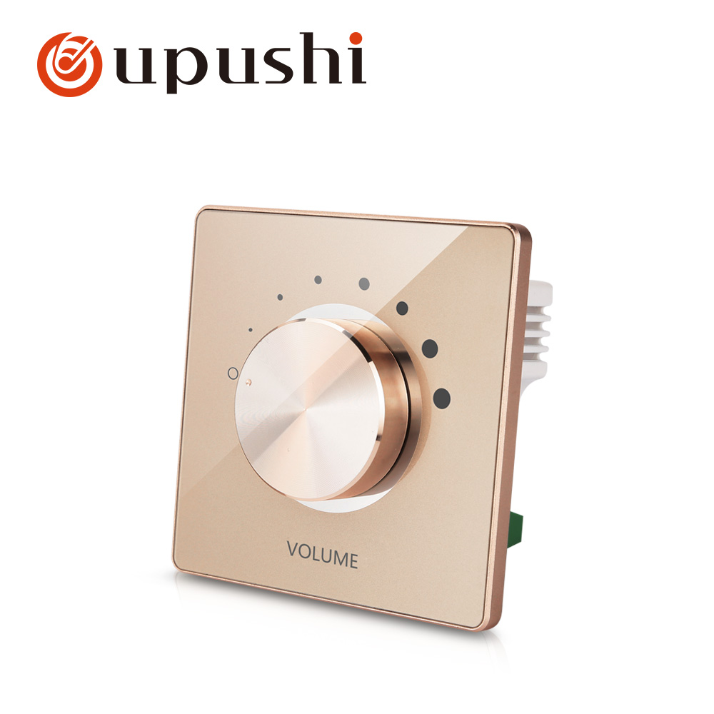 100W In Wall Stereo Speaker Volume Control with Impedance Matching Wall Mount Rotary Volume Control Knob