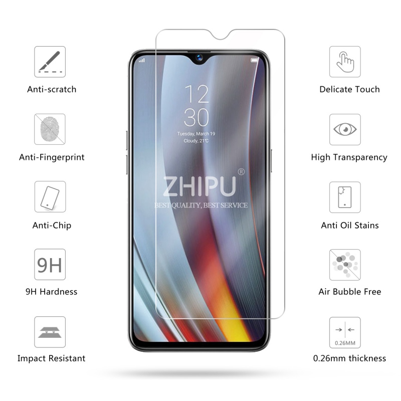 Image 2 - 2 Pcs Tempered Glass For OPPO Realme 3 Pro Glass Screen Protector 2.5D Tempered Glass For Realme 3 Pro RMX1851 Protective Film-in Phone Screen Protectors from Cellphones & Telecommunications