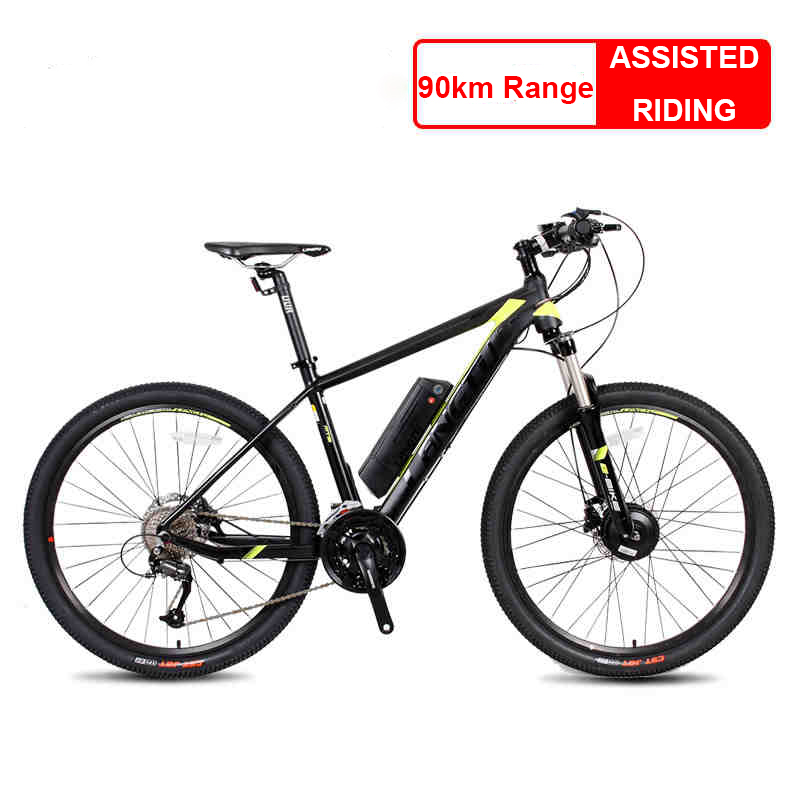 Back To Search Resultssports & Entertainment 26x17 Inch Electric Mountain Bike Oil Hydraulic Disc Brake Lockable Shock Front Fork Bafang Front Drive Motor Smart Sensor Ebike Cheap Sales Cycling
