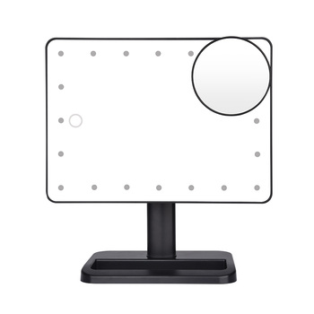 Bluetooth динамик светодиодный сенсорный экран макияж зеркало с 10X Лупа 20 светодиодный S Косметика с подсветкой регулируемое настольное зеркало