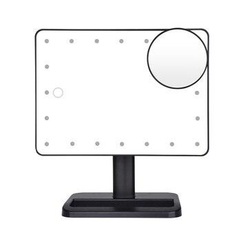 Bluetooth динамик LED сенсорный экран зеркало для макияжа с 10X лупой 20 светодиодов освещенное косметическое регулируемое косметическое настольн...