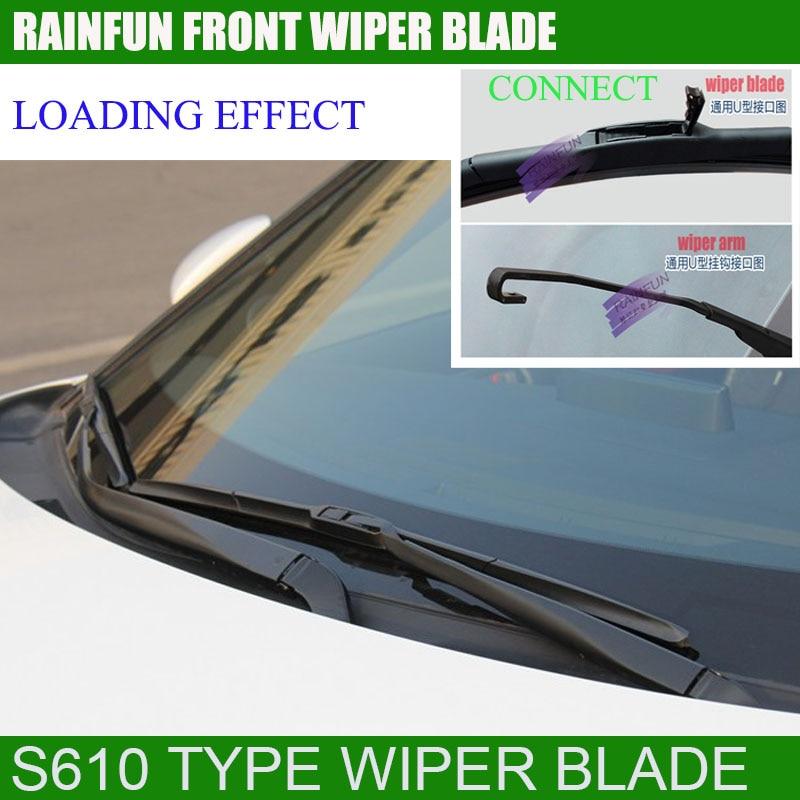 RAINFUN специальный автомобиль стеклоочистителя для MITSUBISHI V5, 24+ 17 дюймов Автомобильный Стеклоочиститель Авто мягкий стеклоочиститель, 2 шт. в партии