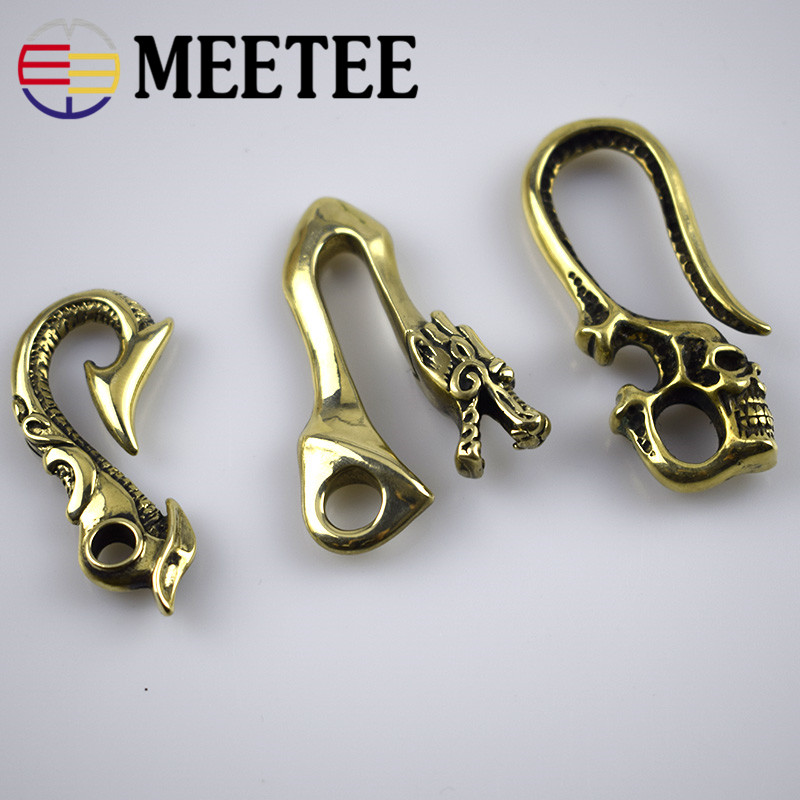 Apparel Sewing & Fabric Apprehensive 3x Solid Brass Metal Buckles Hook Lobster Clasp Dog Buckle S Type Keychain Hooks Wallet Chain Hanger Bag Belt Accessories F1-37 Superior Performance