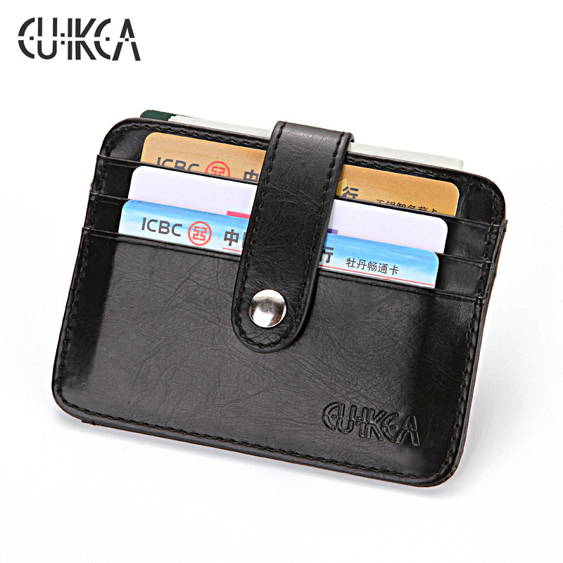 CUIKCA Men Women Wallet Carteira Unisex Leather Slim