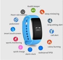 V66 Спорт Smart watch Bluetooth 4.0 Интеллектуальный Браслет Браслеты часы для Android ios телефон мужчины женщины pk id107 id105 e02