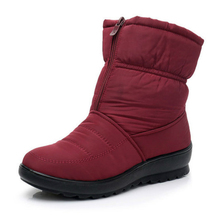 Winter New Mother Snow Boots Womens Thick Warm Waterproof Classics Woman Fashion Casual Plus Size Non-slip Plush Shoes