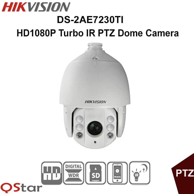 Hikvision Original English Version DS-2AE7230TI-A HD1080P Turbo IR PTZ Dome Camera 30X optical zoom UP to 120m CCTV Camera гарнитура sennheiser cx 5 00g вкладыши черный проводные