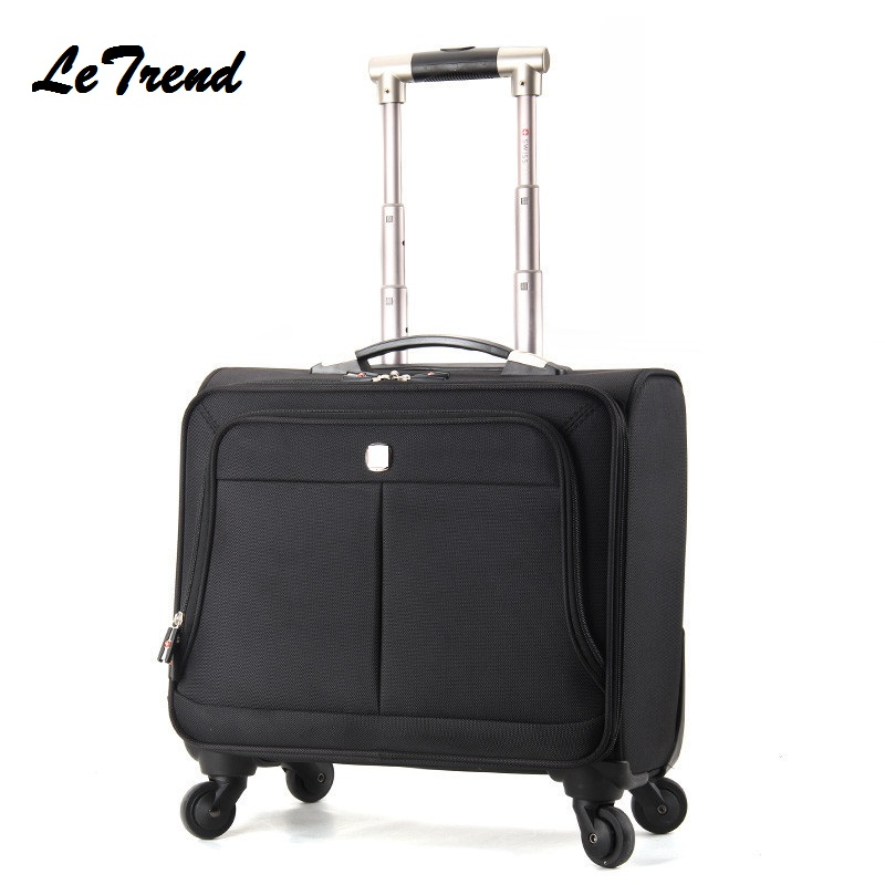 Boarding-Suitcase Travel Waterproof Casters Spinner Business Large-Capacity 16/18inch