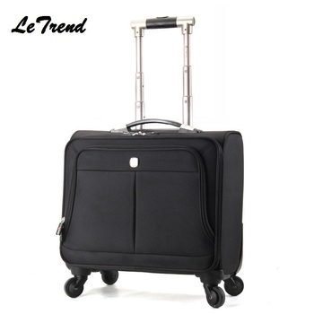 Business Multifunction Boarding Suitcase Travel Oxford Waterproof Casters 16/18 inch Men Large Capacity Spinner Rolling Luggage