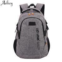 Aelicy Canvas Travel Bag Backpacks 2018 New Design Waterproof Laptop Backpacks Men Women Fashion Travel Korean