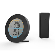 Buy online Wireless indoor & outdoor temperature monitor Round indoor and outdoor thermometer waterproof hanging or stand on the desk