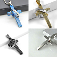 Christian Jewelry Stainless Steel Cross Pendant Necklace