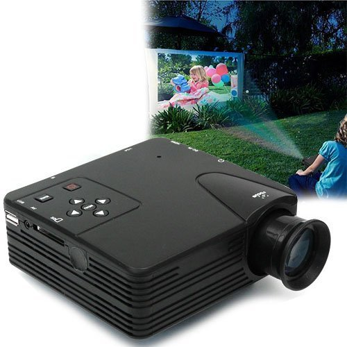 2 Colors Mini HDMI Video Projector Computer PC TV AV HD 1080P USB Home Theater Cinema Mini LED Projector NEW