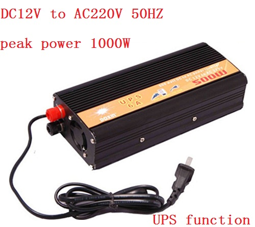 цена на 500W (peak power 1000W) DC12v to AC220v Car Power Inverter+Charger & UPS,Quiet Fast Charge