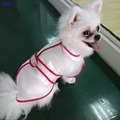 Adjustable Dog Raincoat  Clothes Transparent Raincoat Light Clothes Waterproof  Puppy  Raincoat