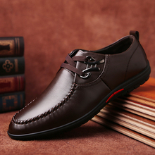 2016 Brand New Mens Flats Spring REAL Men's Casual Dress Shoes Cow Split Leather Moccasin Handmade Man Sapatos Social Shoes