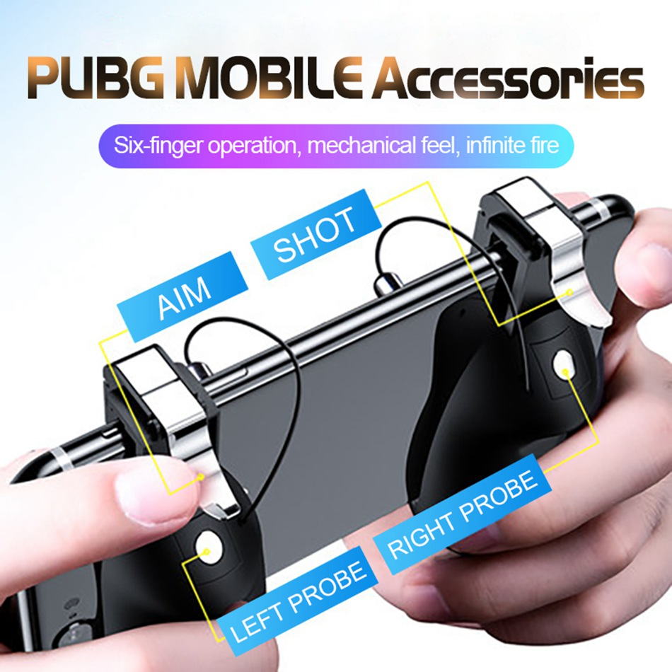 For PUBG Mobile Game Controller Gamepad Trigger
