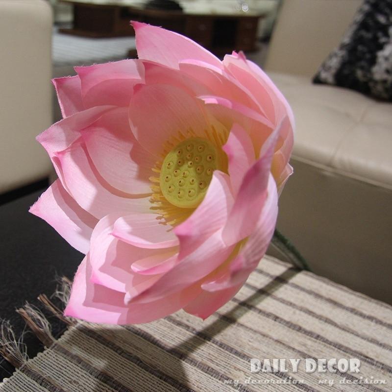 6pcs 95cm Large Artificial Lotus Flower Giant Flowers Decoration