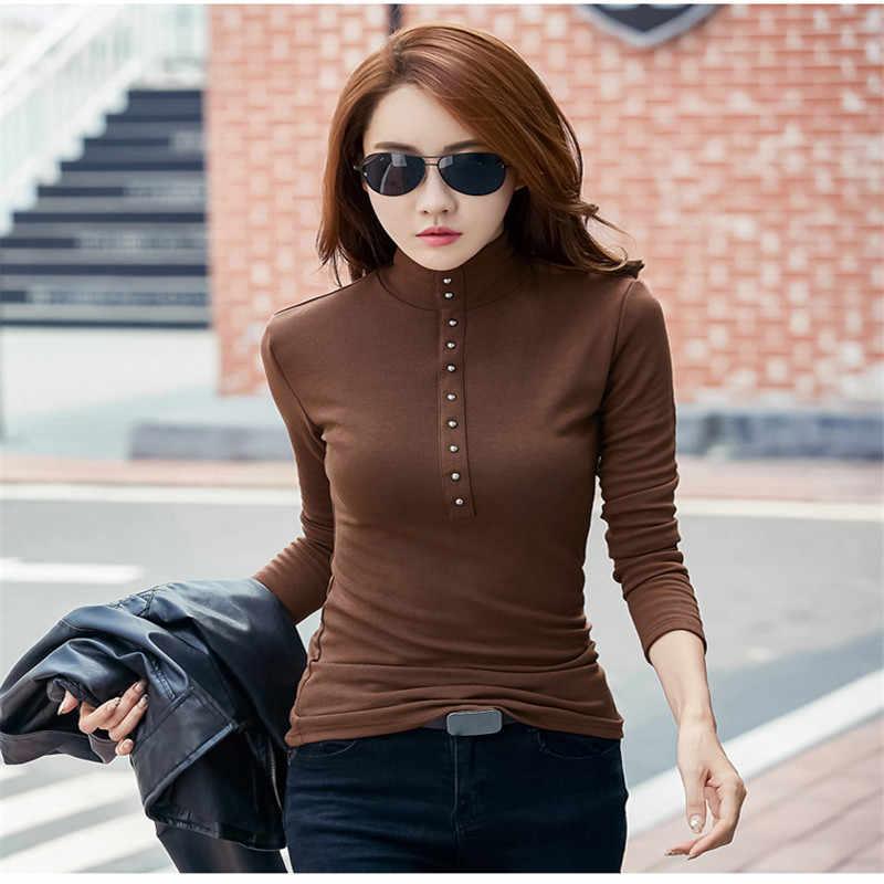 e8de8f490aa8b ... Merry Pretty Plus Size 4XL Turtleneck Sweater 2018 Winter Plus Velvet  Knitted Tops Long Sleeve Button ...