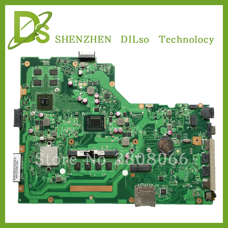 KEFU X75VD For ASUS X75VD X75V X75VB X75VC Laptop motherboard REV3.1 mainboard i3 with Graphics card Test motherboard original for asus x75vd motherboard x75vd rev3 1 mainboard processor i3 2350 gt610 1g ram 4g memory on board 100% test