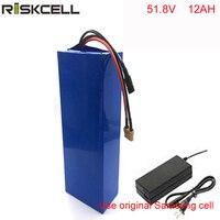 52V e moto-bateria ebike li-ion baterias 52V 12AH para 1000W bicicleta elétrica do motor Para samsung celular
