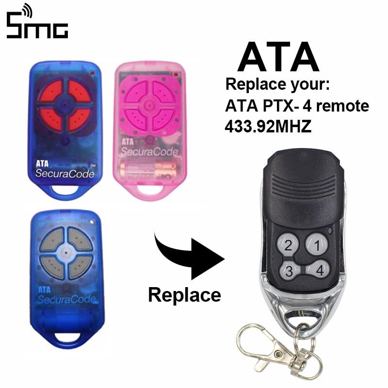 ATA PTX4 Remote Control Garage Door Opener Hand Transmitter ATA Garage Door Remote Control 433,92 MHz Rolling Code