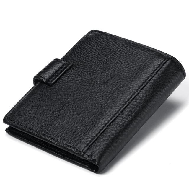 GZCZ nuevo Billetera Cartera de cuero genuino para hombre, cartera personalizada para hombre, regalo de tu nombre, billetera para novio, 2018 carteira, portefeulle